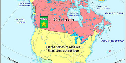 North America with Canada